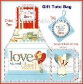 Grandma's Pantry Gift Tote Bag with Potholder Tag