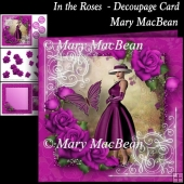 In the Roses - Decoupage Card