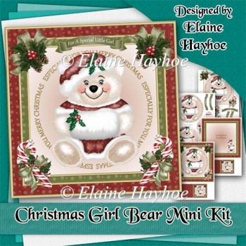Christmas Girl Bear Mini Kit