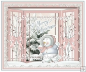Skating by With Christmas Wishes Snowman Card Insert