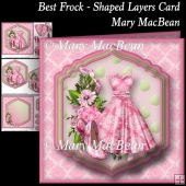 Best Dress - Shaped Layers Card