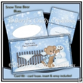 Snow Time Bear Card Kit - Blue