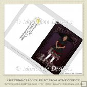 Gothic Doll 1 Happy Birthday Printable Greeting Card
