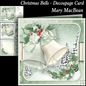 Christmas Bells - Decoupage Card