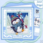 CANDY CANE PENGUIN 7.5 Decoupage & Insert Mini Kit