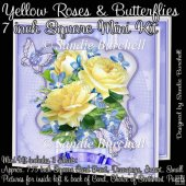 Yellow Roses & Butterflies 7 inch Square Mini Kit