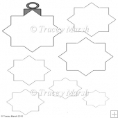 Commercial Use Diamond Christmas Bauble Pyramage Template