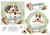 Puppy Dog Kisses - 6 x 6 Card Topper & Decoupage - PU 300 DPI