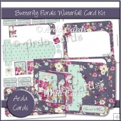 Butterfly Florals Waterfall Card Kit