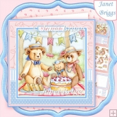 TEDDY BEARS PICNIC 8x8 Decoupage & Insert Kit