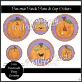 Pumpkin Patch Plate & Cup Stickers