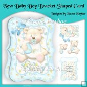 New Baby Boy Bracket Shaped Card