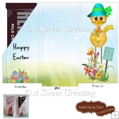 Puffles Easter Small Candy Bar Card