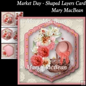 Market Day - Shaped Layers Card