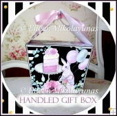 Birthday Bunny Handled Gift Box with Directions