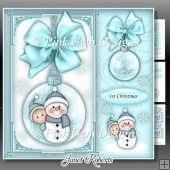 Baby Boy Snowman Bauble Square Mini Kit