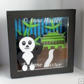 Panda Picture Shadow Box Template - GSD/Studio Ready