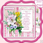 SPRING BOUQUET 7.8 Decoupage & Insert Mini Kit