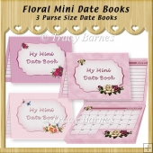 Floral Mini Date Books