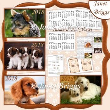 PUPPIES 2018 UK Easy Fold Purse Calendars