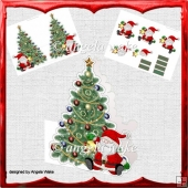 Christmas tree shaped card