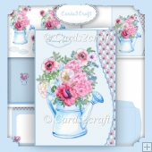 Wavy Edge Flower and jug card set 2