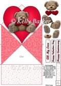 Teddy Bear Love Diamond Top Spring Card