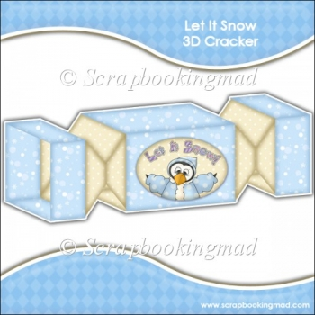 Let It Snow 3D Cracker Gift Box