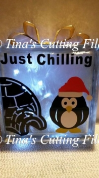 Just Chillin Christmas Penguin