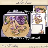 Handbag Shape Card lilac Rose
