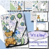 IT'S A BOY - SCALLOPED POCKET CARD KIT
