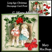 Long-Ago Christmas Decoupage Card Front