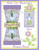 Garden Time Flowerpot Decoupage Card