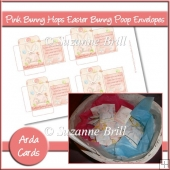 Pink Bunny Hops Easter Bunny Poop Envelopes