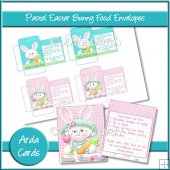 Pastel Easter Bunny Food Envelopes