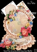 Rosey Posey Scalloped Round Easel Card Mini Kit