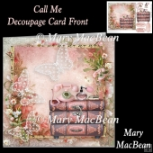 Call Me Decoupage Card Front