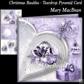 Christmas Baubles - Teardrop Pyramid Card