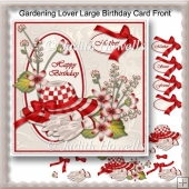 Gardening Lover Large Birthday Card Front