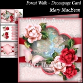 Forest Walk - Decoupage Card