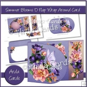 Summer Blooms D Flap Wrap Around Card