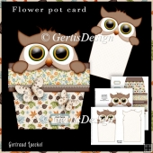 Owl Pot Stand Alone Card Kit