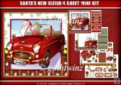 Santas New Sleigh 4 Sheet Mini Kit