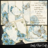 Vintage Blue Floral Stationery Set