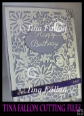 Beautiful detailed flower floral card topper - multi format cut