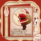 Santa I'm Going In 7.8 Christmas Decoupage Card Kit