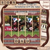 HORSE RACING 7.5 Alphabet and Age Quick Card Kit Create Any Name