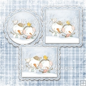 READY TO PRINT TOPPERS VARIETY - SIMPLY SNOWMEN - BLUE