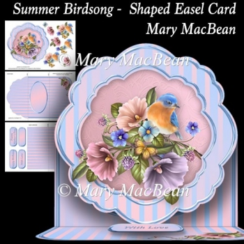 Summer Birdsong - Shaped Easel Card
