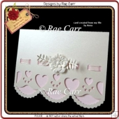 491 Scalloped Heart Edge Card *Multiple MACHINE Formats*